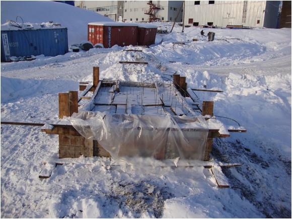 Проведение бетонных работ при отрицательных температурах