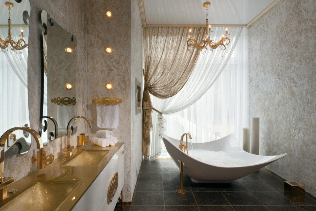 Окно в ванной комнате: дизайн и оформление