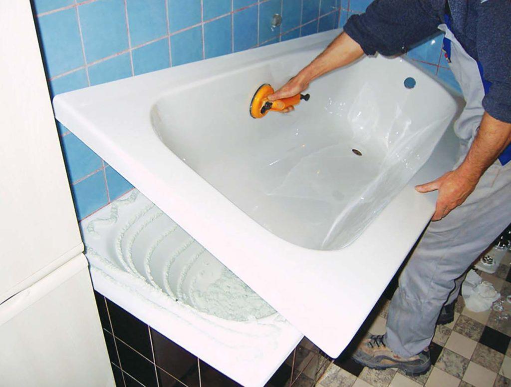 Акриловые вкладыши: быстрый ремонт ванных ПВХ панелями