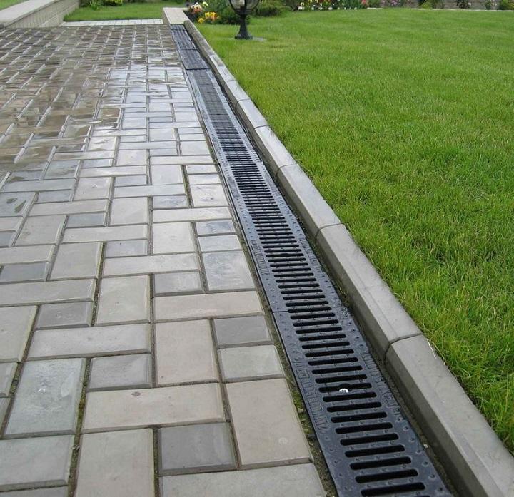 Интеграция ливневки в тротуарную плитку