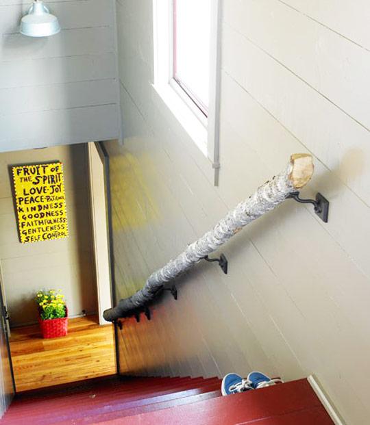 Оригинальные перила для лестниц своими руками