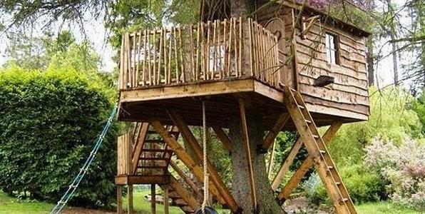 Беседка на дереве — домик для детей