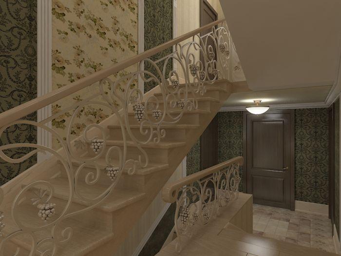 Как оформить лестничную площадку в частном доме