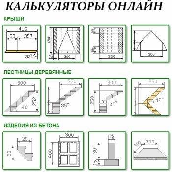 Строительные калькуляторы онлайн. Публикуем для вас самые годные и популярные: