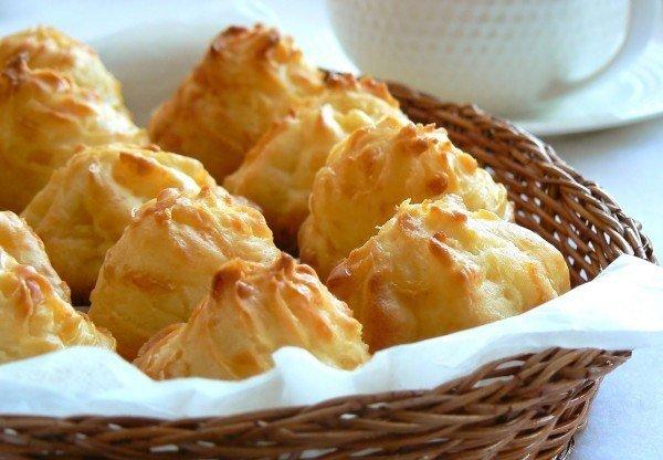 Заварное печенье с сыром.