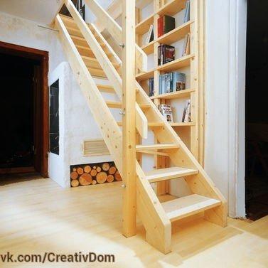 Деревянная лестница своими руками (расчет ступеней и уклона, материалы, пошаговый монтаж).